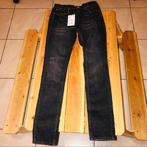 Zara Man Legend faded black side studded jean 30W